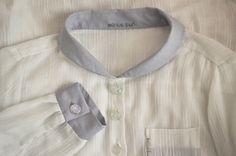 semi-transparent shirt detail by Minus Sun