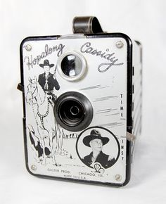 Hopalong Cassidy Box Camera c. 1950. 8 exposures, 6x9cm, on 120 rollfilm. Galter products BlondeShot Creative: My vintage camera collection