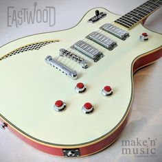Eastwood Guitars Bill Nelson Astroluxe Cadet Guitar Inlay, Guitar Art, Music Guitar, Cool Guitar, Guitar Room, Eastwood Guitars, I Love Bass, Guitar Stand, Guitar Collection