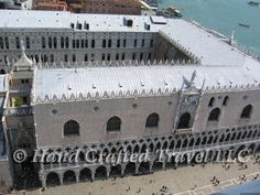 Travel Picture: Day 200. The Doge's Palace in Venice, Italy, seen from the top of the bell tower of Saint Mark's Basilica.