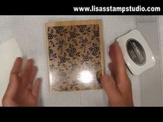 An easy way to use large or background stamps without wrestling with their size and to get great ink coverage. Stampin' Up!, tip, I Love Lace, Memento ink, Grid Sheets, card, paper, scrapbook, memory, pictures, craft, rubber, stamps, www.lisasstampstudio.com