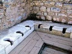 Image result for roman toilets