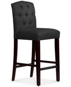 Jillian Tufted Arch Bar Stool Quick Ship Black Kitchen Stools Counter