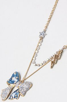 Betsey Johnson The Heavens To Betsey Bow Pendant Necklace : Karmaloop.com - Global Concrete Culture