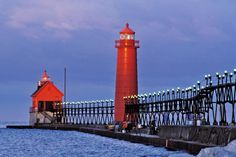 Grand Haven lighthouse - Lake Michigan, USA - More info: http://en.wikipedia.org/wiki/Grand_Haven_Light