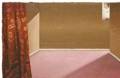 Matthias Weischer   Kleiner Vorhang   signed and dated 'M. WEISCHER 2004' (on the reverse)   oil on canvas   23¾ x 35 5/8in. (60.2 x 90.5cm.)   Painted in 2004 via christies
