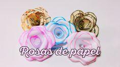Rosas de papel súper sencillas