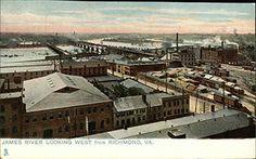 James River Looking West from Richmond, Va Richmond, Virginia Original Vintage Postcard CardCow Vintage Postcards http://www.amazon.com/dp/B00PCO14AE/ref=cm_sw_r_pi_dp_UqV2wb1HN8A3R