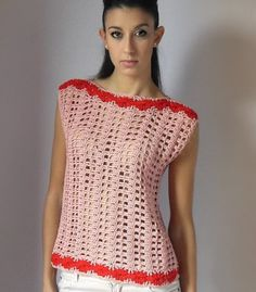 Moda Crochet Patterns : Moda croche e trico on Pinterest Crochet Dresses, Crochet Tops and ...
