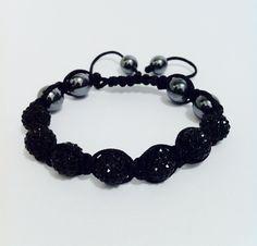 Mens shamballa adjustable bracelet swarovski crystal beads Bobin Boutique new