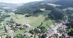 Das Schizentrum Rettenbach aus der Vogelperspektive (Hubschrauberrundflug) Dolores Park, Travel, Birds Eye View, Helicopters, Viajes, Destinations, Traveling, Trips