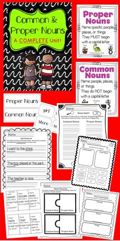 Complete unit to teach students common and proper nouns