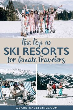 We Are Travel Girls Founders Becky van Dijk and Vanessa Rivers got together to give your a list top ski resorts for female travelers. In this guide we share some of our favourite ski resorts around the world and why we think they are great for a girls getaway! #wintertravel | best ski resorts in the us | best ski resorts in the world | best ski resorts in Europe | girls ski trip ideas | girls winter getaway | winter girls weekend getaway Travel Advice, Travel Guides, Travel Tips, Top Ski, Best Ski Resorts, Girls Getaway, Girls Weekend, Winter Travel, Winter Holidays