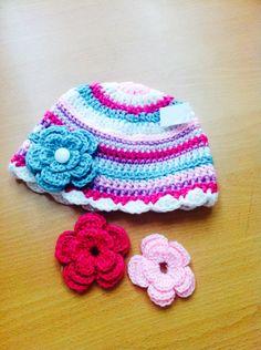 Lindo gorro crochet colores