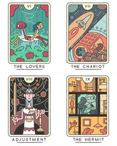 The Tarot (Major Arcana) illustrated by Joe Sparrow Available soon as for purchase as a deck! Character Illustration, Graphic Design Illustration, Illustration Art, Sparrow Art, Game Card Design, Playing Cards Art, Tarot Major Arcana, Illustrations And Posters, Tarot Decks