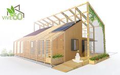 Galería de Construye Solar presenta los 10 prototipos de vivienda social… English Garden Design, Zen Garden Design, Vertical Garden Design, Contemporary Garden Design, Garden Architecture, Architecture Design, Chinese Architecture, Architecture Office, Futuristic Architecture