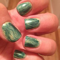 31 Day Challenge Green Nails - does this being pinned mean that someone thought it looked good?
