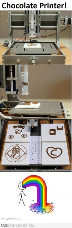 Engineering at it's best.. The Chocolate 3D Printer.