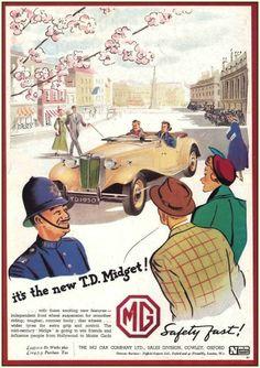 1950s MG TD Car Advert