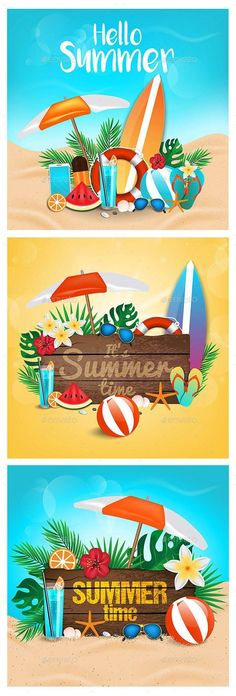 Summer background by Creative Graphics on Nature Illustration, Digital Illustration, Nature Vector, Summer Backgrounds, Flyer Layout, Photoshop Actions, Free Photoshop, Lightroom, Vector Shapes