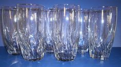 6 Anchor Hocking Clear Glass Starfire Central Park Water Tea Tumblers   eBay