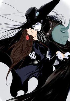 This drawing belongs to (color) Vampire Hunter D, Vampire Love, Yoshitaka Amano, Real Vampires, Dope Art, Aesthetic Images, How To Draw Hair, Gothic Art, Dracula