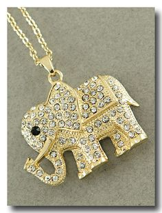 Crystal Elephant Necklace from P.S. I Love You More. Shop online at: psiloveyoumore.storenvy.com