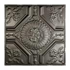 Rochester 2 ft. x 2 ft. Nail-up Tin Ceiling Tile in Argento
