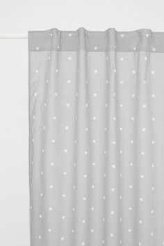 Star-patterned Curtain Panel | Gray/stars | H&M HOME | H&M US