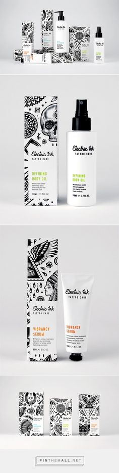 Protect Your Tattoos With Electric Ink, Youthful Nonconformist! — The Dieline | Packaging & Branding Design & Innovation News - created via https://pinthemall.net