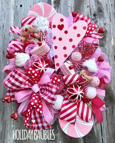 Excited to share this item from my shop: Valentine's Day Wreath, Valentine Sweets Wreath, Heart Wreath, Whimsical Valentine Wreath, Valentine's Day Decor Valentines Sweets, Valentine Day Wreaths, Valentines Day Decorations, Valentine Day Crafts, Easter Wreaths, Holiday Wreaths, Holiday Crafts, Valentine Ideas, Printable Valentine