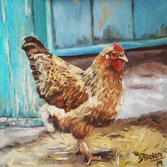 Aren't they lovely? And they have feelings! I can also feel their souls😍 Chicken serie 25 x oil on board Soul Chicken, Farms Living, Feelings, Board, Painting, Places, Painting Art, Paintings, Painted Canvas