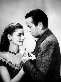 Humphrey Bogart and Lauren Bacall, 1947.
