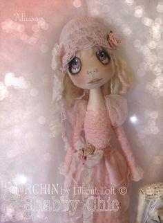 Urchin Art Doll 'Alliana' by Vicki at Lilliput Loft