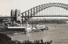 Luna Park, Sydney Harbour Bridge , 1946,Australia