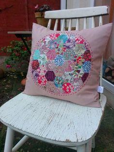 Hexagon cushion #LibertyPrint