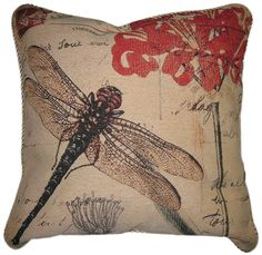 DaDa Bedding Dragonfly Dream Woven Cushion Cover. Our cushion covers and throw pillow covers are intricately woven with beautiful designs made to improve your living space in a comfortable and warming