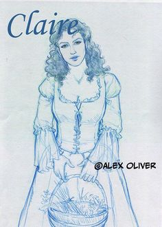 Alex Oliver: dibujante on Facebook Outlander Costumes, Outlander Fan Art, Diana Gabaldon Outlander Series, Sam And Cait, Caitriona Balfe, Series Movies, Book Characters, Book 1, Book Worms