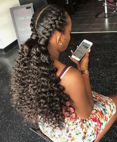 56 Dope Box Braids Hairstyles to Try - Hairstyles Trends Box Braids Hairstyles, Black Girl Braided Hairstyles, Braided Ponytail Hairstyles, Baddie Hairstyles, Girl Hairstyles, Hairstyle Ideas, Two Braids Hairstyle Black Women, Wedding Hairstyles, Hairstyle Men