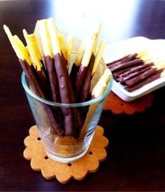 生地から作るチョコポッキー♪