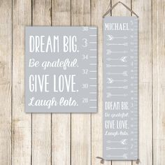 Arrows Growth Chart Ruler Personalized Canvas Gift For Boys Gc0002s