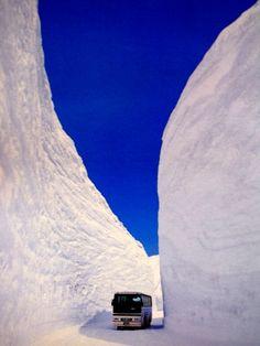 Snow wall, Tateyama, Japan. Spectacular photo!