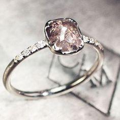 1.37 carat dark champagne diamond ring. chincharmaloney.com
