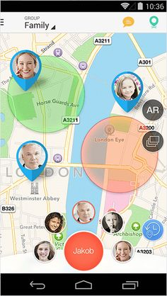 Family Locator lets you see the real-time location of your kids on the map & stay in touch with instant messages.