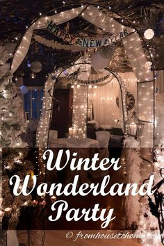 Winter Wonderland Party Ideas   Looking to throw a winter wonderland party and want some ideas for food, drinks and decor? This post has lots of great suggestions! Would also be good for a White Party or Wedding.