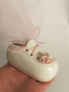 bc91221263535e Porcelain shoes favors Unique guests gift Greek baptism souvenirs Girl  christening giveaway Baby boy shower party