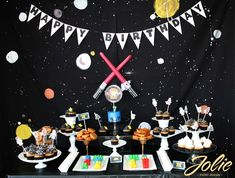 Lego Star Wars Birthday Party ideas...yoda soda, princess leia buns, lego cakes, wookie cookies and more