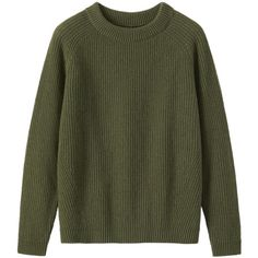 Toast Ribbed Wool Sweater ($190) ❤ liked on Polyvore featuring tops, sweaters, jumpers, shirts, olive, wool sweaters, green shirt, army green shirts, woolen sweater and raglan sleeve shirts