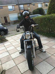 New bike happy