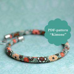 Bead crochet necklace pattern Bead crochet pattern by Chudibeads